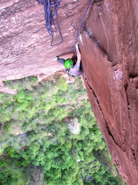 The first pitch is hard, but not as hard as the finger crack roof.