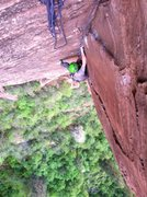 Rock Climbing Photo: The first pitch is hard, but not as hard as the fi...
