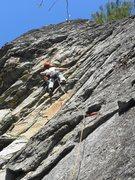Rock Climbing Photo: Kyle onsites Just Say Moo