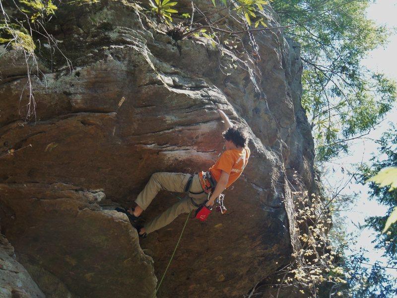 Rock Climbing Photo: Me flashing