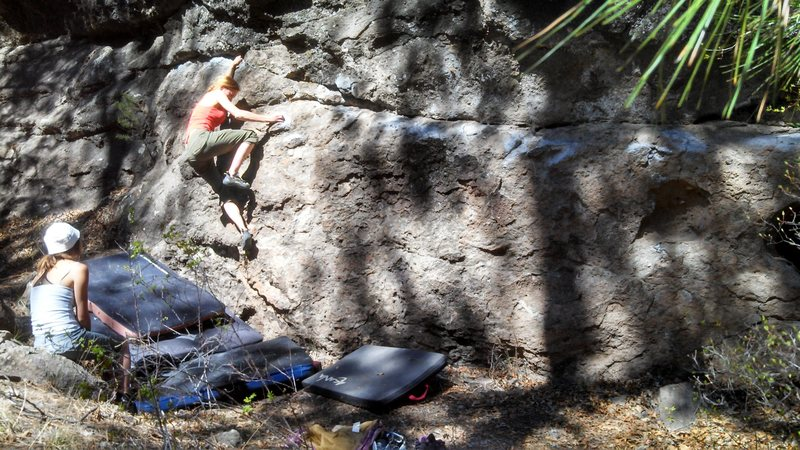 Rock Climbing Photo: Last boulder traverse