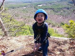 Rock Climbing Photo: Zackary at the top
