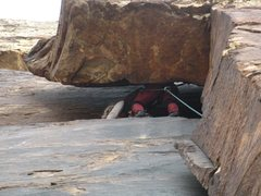 Rock Climbing Photo: Mia placing gear in the main wall before diving in...