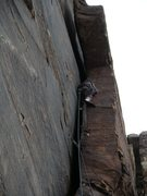 Rock Climbing Photo: Danny working the offwidth on P3.  You can walk a ...
