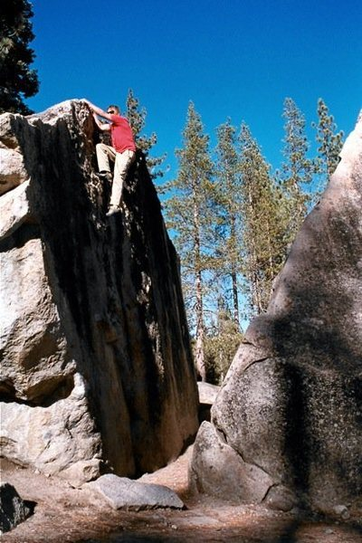 Rock Climbing Photo: Split Rock V2