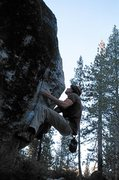 Rock Climbing Photo: Bear Hug Arete V4