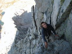 Rock Climbing Photo: Mt. Cotter easy 5th class
