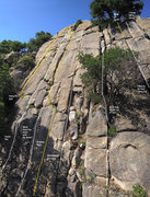 Rock Climbing Photo: Putrid Rat is the crack directly underneath the ra...