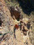 Rock Climbing Photo: Russ on Greevers' new line