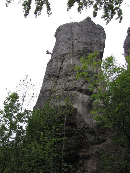 The proud Nürnberger Turm, as seen from the approach. This is the south face.