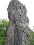 Rock Climbing Photo: Red: Mondscheinkante; Blue: Glattwand; Yellow: Nor...