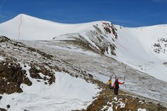 Rock Climbing Photo: Other lines skied off of the Divide above Heart La...