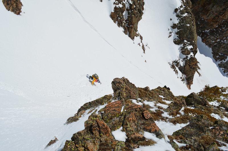 Rock Climbing Photo: Aaron Miller enjoying that cool whip.