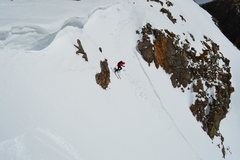 Rock Climbing Photo: Cor dropping in.
