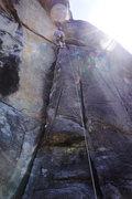 Rock Climbing Photo: Nearing crux