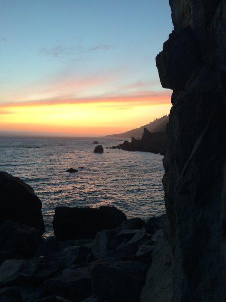 Sunset at Dry Creek Sea Crag