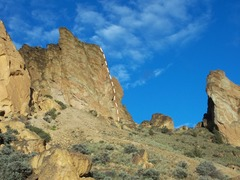 Rock Climbing Photo: Marsupial Wall from the base of Koala Rock.  The d...