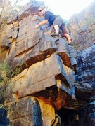 Rock Climbing Photo: Andrew Roberts with a great new FA!!! On The Petri...