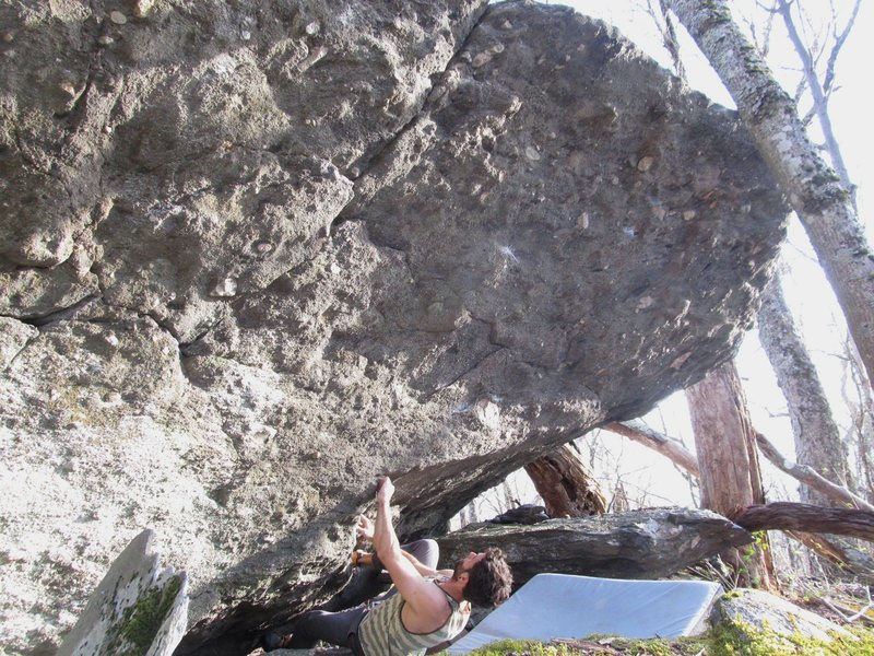Rock Climbing Photo: Starting Mint Julep.