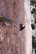 Rock Climbing Photo: Darin Limvere coming up 1st pitch. April, 2014.