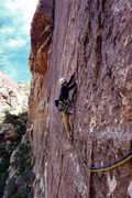 Rock Climbing Photo: Starting 2nd pitch of Rock Warrior. Darin Limvere....