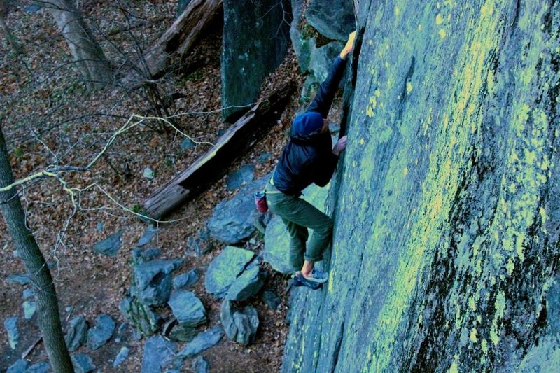 Rock Climbing Photo: Soloing at Carderock MD. December 2013