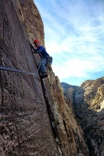 Rock Climbing Photo: Starting pitch 5. Photo: Darin Limvere. April,2014...
