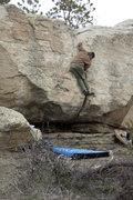 Rock Climbing Photo: Climbing At the Rimrocks in Billings, Montana. V2