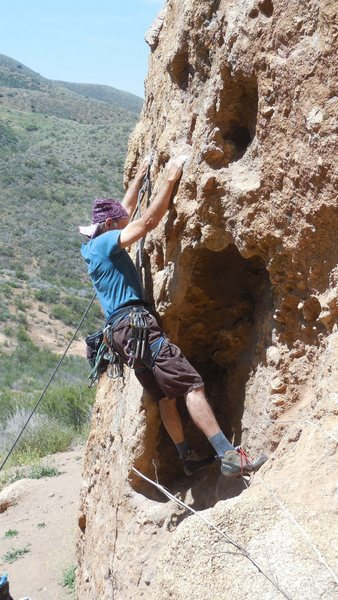 "Rock Climbing Photo: Starting up the ""Green Mile."""