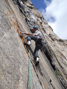 Rock Climbing Photo: new proj on black wall.......
