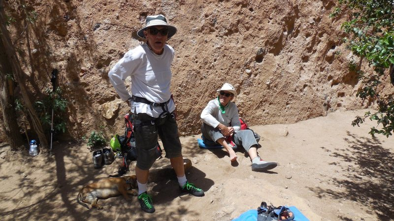 Climbers kick'n it in the First Corridor.