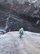 Rock Climbing Photo: Amy finishing up P9
