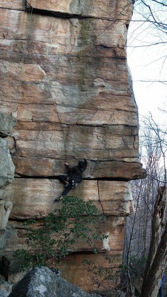 Rock Climbing Photo: Tricky traverse