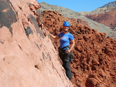 NJ Climber on Physical Graffiti April 29 - If you can ID her please pass this on.