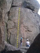 Rock Climbing Photo: The crack system to the left is Upper Sunset Crack...