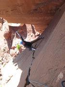 Rock Climbing Photo: Rick coming up Jolly Rancher.