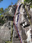 Rock Climbing Photo: left side of center