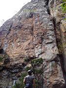 Rock Climbing Photo: From ground - Electra .10c and Catepillar .7.  Ver...