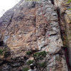 From ground - Electra .10c and Catepillar .7.  Very obvious chimney splitting David's Castle Wall