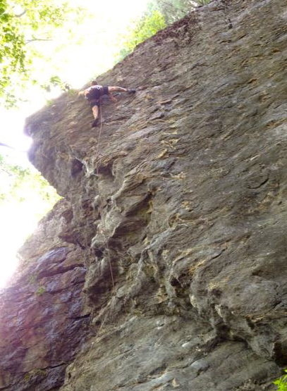 Pushing past the &quot;Crux&quot; of Apocalypse Later 5.11C/D<br>