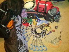 Rock Climbing Photo: The gear I have to work with.