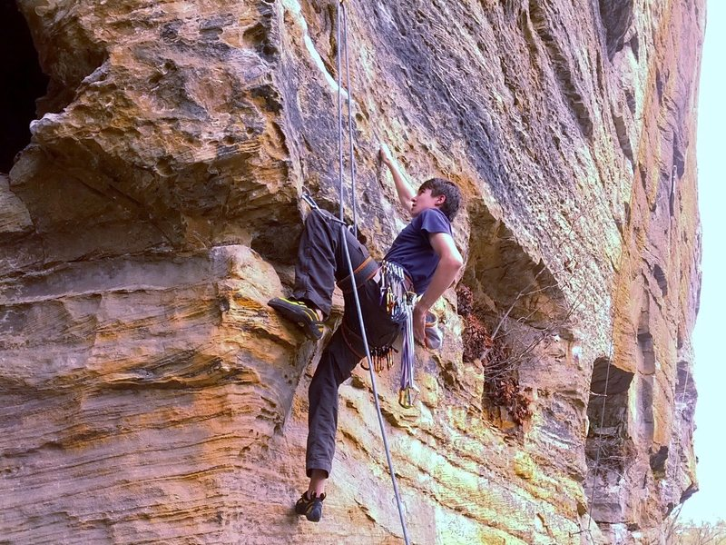 Rock Climbing Photo: Resting before the low crux...