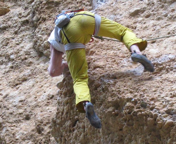 Rock Climbing Photo: Mega butt shot!  Aitzol, Margalef