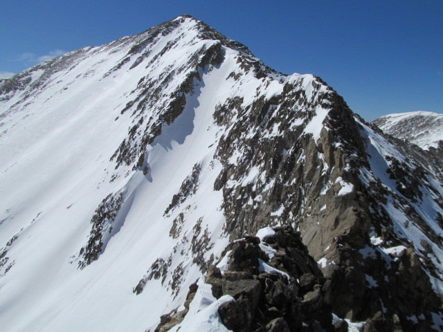 Rock Climbing Photo: The North Ridge and the North Face of Democrat.