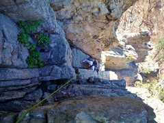 Rock Climbing Photo: 2nd pitch of Skyline traverse, after the step over...