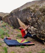 Rock Climbing Photo: Start beta of Ring Them Bells. Make a big toss for...