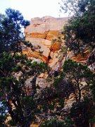 Rock Climbing Photo: North Prow Variation. Splitter third technical pit...