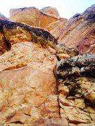 Rock Climbing Photo: Pitch 3 variation I chose. 5.7! At radical finger ...