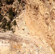 Rock Climbing Photo: Looking down the cool corner that is pitch 9.