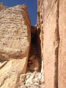 Rock Climbing Photo: Last pitch 5.3 R chimney!!!